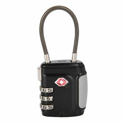 TSA Approve Luggage Travel Suitcase Bag Lock [3 Digit Combination] Padlock Reset 7