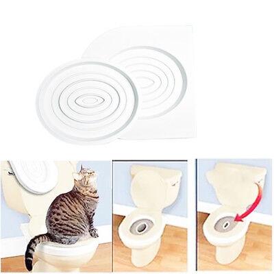 Cat Toilet Training Kit Kitten Plastic Mat Pet Supplies Behavior Litter Box FT# 2