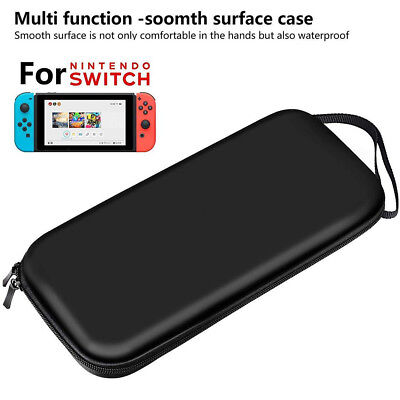 For Nintendo Switch Hard Carrying Case Bag+Shell Cover+Charging Cable+Protector 10