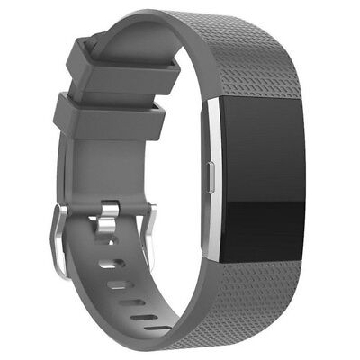 FOR Fitbit CHARGE 2/HR Replacement Silicone Rubber Band Strap Wristband Bracelet 12