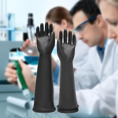 Schwarze Latex Stulpen HandschuheSäure- und laugenb Industriell  Naturkautschuk 2