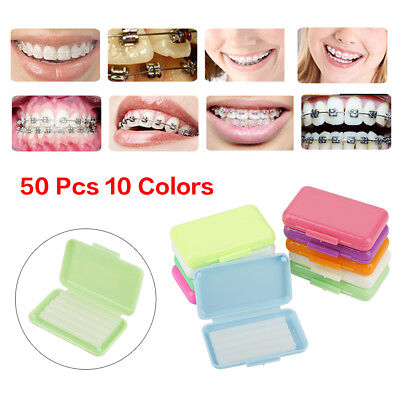 50 Packs Fruit Scent Dental Orthodontics Ortho Wax For Braces Gum Irritation US
