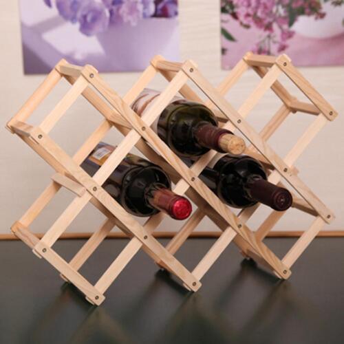 Wooden Red Wine Rack 3/6/10 Bottle Mount Holder Exhibition Organizer Valuable