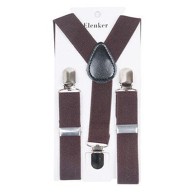 Boys Girls Kids Child Baby Children Clip on Y Back Elastic Suspenders US SELLER