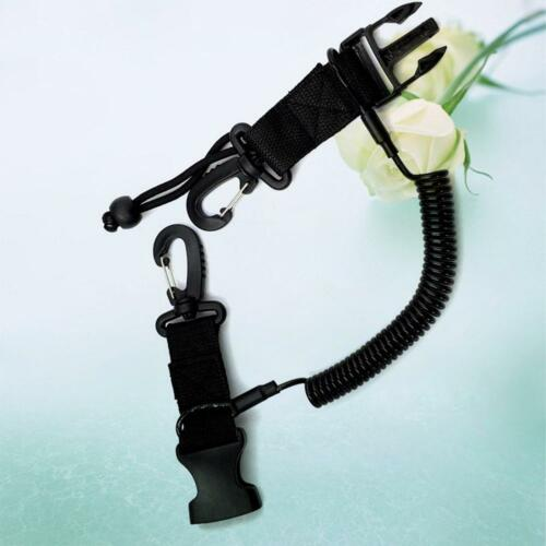 HOT Scuba Diving Lanyard Coil Anti-lost Rope Buckle Clip Climbing Carabiner Hook