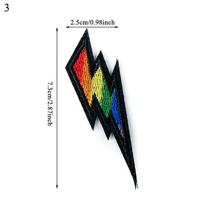 1pcs Rainbow Iron On Patches Gay Pride Embroidered Patch Sticker DIY Appliques 5