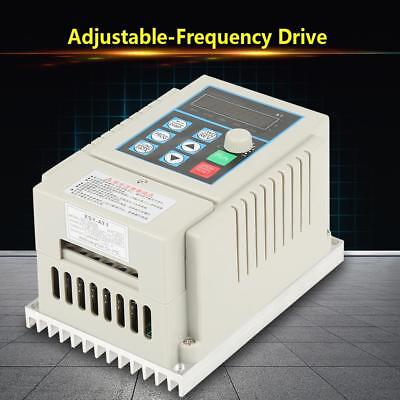 0.45kW VFD 2.5A AC 220V Single/3-Phase Speed Variable Frequency Drive Inverter 6