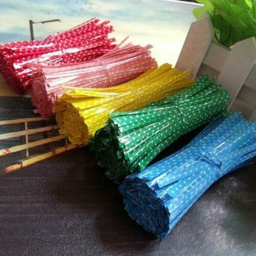 Chic 100 X Metallic Twist Ties for Candy Lollipop Cake Pop Cello Bag Party!