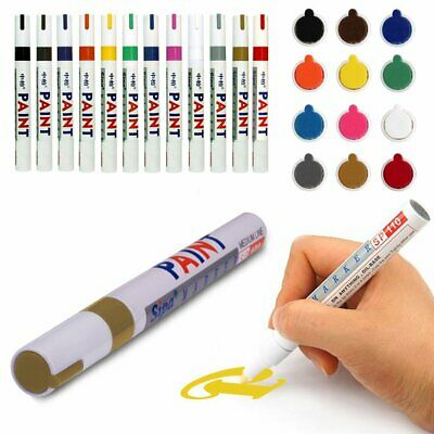 Paint Pen Marker Colours for Car Tyre Tire Metal Rubber Glass Permanent Marker 7