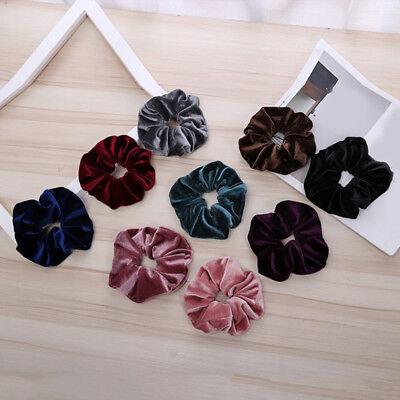 Shiny Velvet Rubber Band Women Elastic Hair Rope Hair Ring Ponytail Scrunchies 4