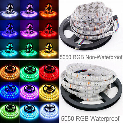 5050 Rgb Led Strip Lights Colour Changing Tape Under Cabinet Kitchen Lighting 2