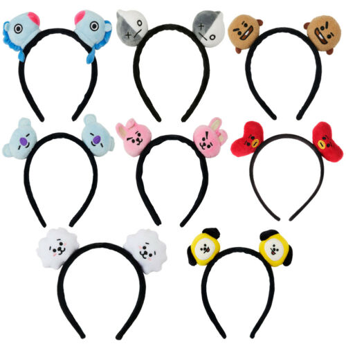 Kpop BTS Headbands Hair Band Tie Bangtan Boys CHIMMY BT21 Tuck Comb Headwear UK 2