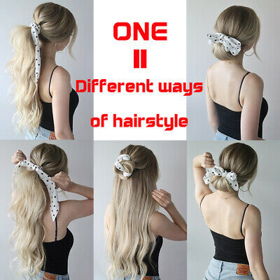 Boho Print Ponytail Scarf Bow Elastic Hair Rope Tie Scrunchies Ribbon Hair Bands 10