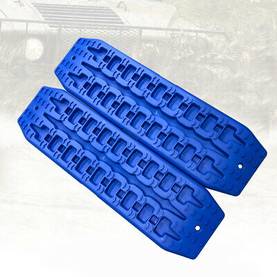 NEW Pair Recovery Tracks Sand Track 2pc 10T Sand / Snow / Mud Trax 4WD Blue 12