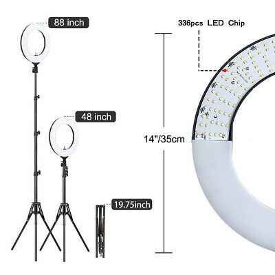 "US 14"" LED Ring Light Selfie Photo Photography For Camera Vlog Video Tripod"
