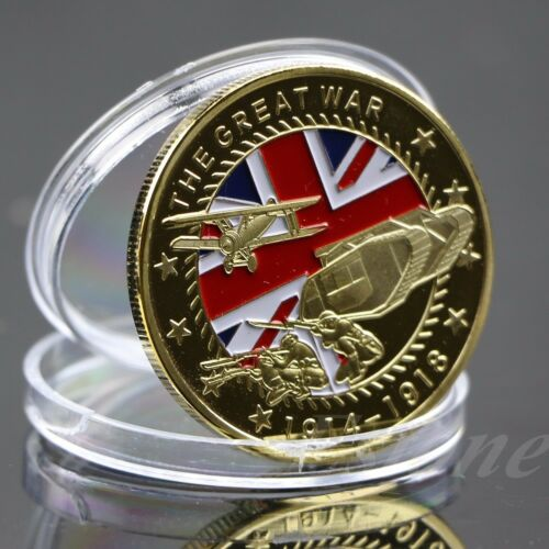 Gold Plated The Great War Commemorative Coin Collection Colored Collective 3