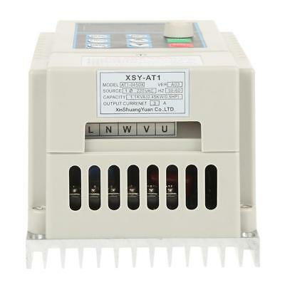 0.45kW VFD 2.5A AC 220V Single/3-Phase Speed Variable Frequency Drive Inverter 12