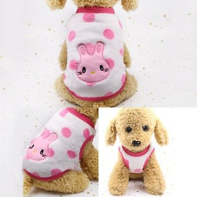 Pet Clothes Sweater Chihuahua Teddy Small Dog Coat Jacket Flannel Soft Warm 5