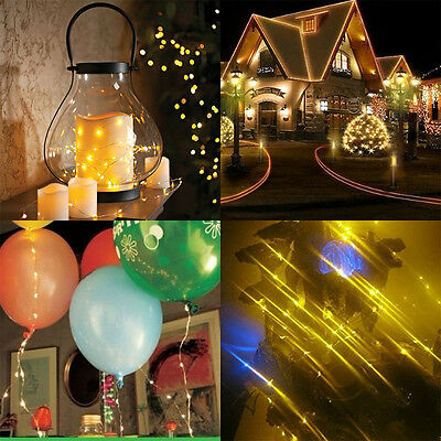 20/50/100 LEDs AA Battery Operated Mini LED Copper Wire String Fairy Lights 10M 5