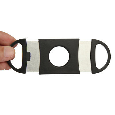 US Cigar Cutter Stainless Steel Double Blades Guillotine Knife Pocket Scissors