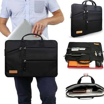 Shockproof 13 14 15.6'' Laptop Sleeve w/4 zipper Pocket&Handle Notebook Bag Case 2