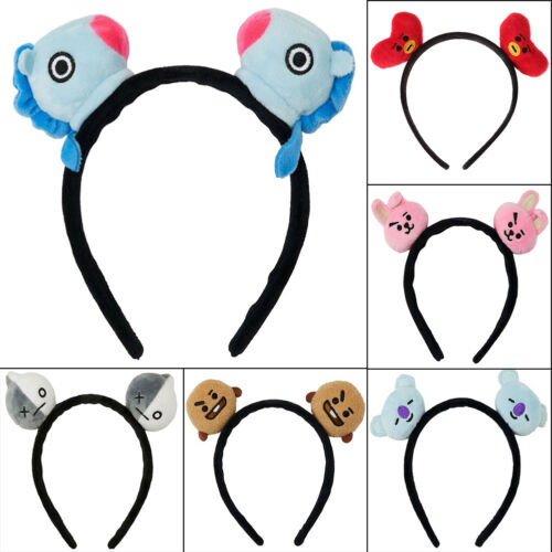Kpop BTS Bangtan Boys BT21 Headband Cooky Chimmy Tata Shooky Vann RJ Hair Band 2