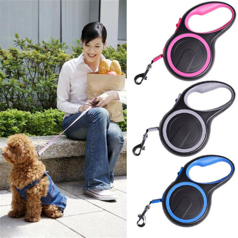 Durable Retractable Dog Lead Extending Leash Tape Cord Traction Rope 15-20-50 KG 4