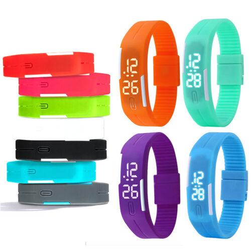 Multifunction LED Sport Electronic Digital Wrist Watch For Child Boys Girls Kids 5