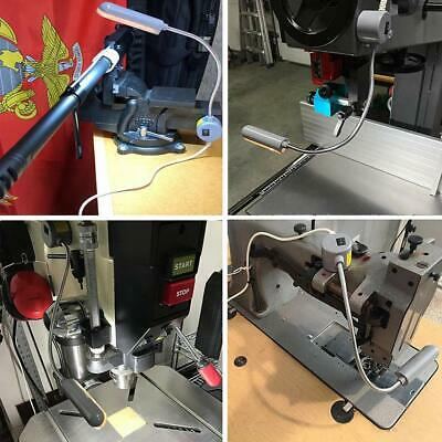 LED Lighting Flexible Gooseneck Arm Work,Magnetic Base for Workbench Lathe Drill 2
