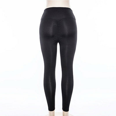 Womens Yoga Gym Anti-Cellulite Compression Leggings Push Up Fitness Sport Pants 8