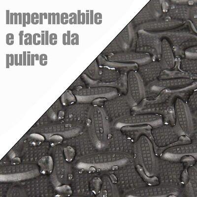 Tappeto Puzzle Tappetino Fitness Palestra Multiuso Schiuma EVA 8pz 60x60cm Nero 3