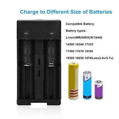 1-4pcs Rechargeable Li-ion Battery Smart 2/4 Slots 18650 LED Battery Charger