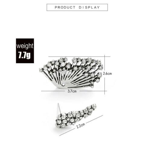 1PCS Trend Punk Style Zircon Statement Ear Stud Earring Women Jewelry Gift 6