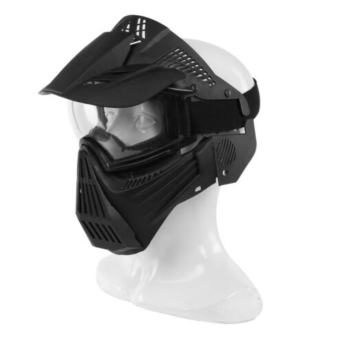 Full Face Protective Safety with Goggles Mask Tactical CS Game Paintball Airsoft 3