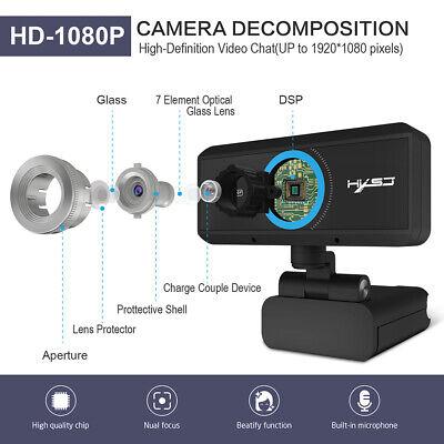 Full HD 1080P Web Cam Desktop PC Video Calling Webcam Camera with Microphone Mic 4