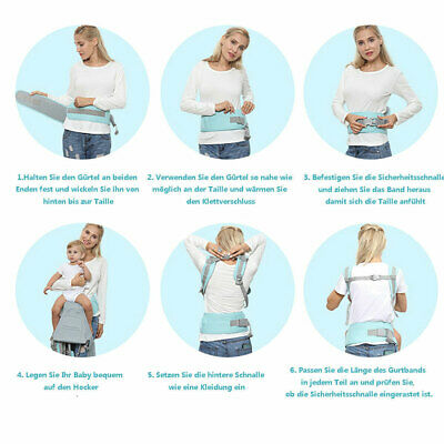 Ergonomic Infant Baby Carrier With Hip Seat Stool Adjustable Wrap Sling Backpack 4