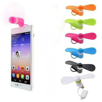 Micro USB Fan Mobile Phone Portable Mini Cooler For Android Phone power bankPVCA
