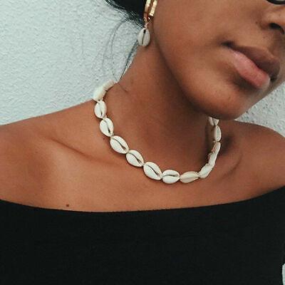 Boho Bohemian Sea Shell Beaded Pendant Chain Choker Necklace Women Beach Jewelry 7