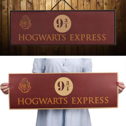 Harry Potter 9 3/4 Platform Poster Movie Vintage Kraft Paper Decoration 72x24cm 3