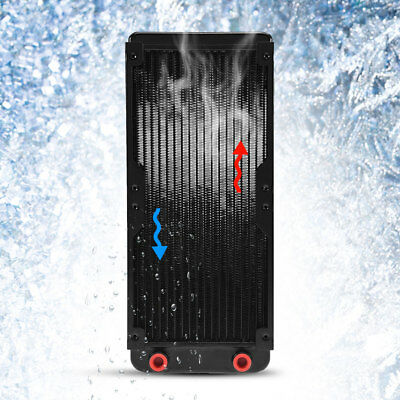 Computer PC CPU Fans Cooler Heat Sink Water Cooling Aluminum 80mm/240mm Heatsink 2
