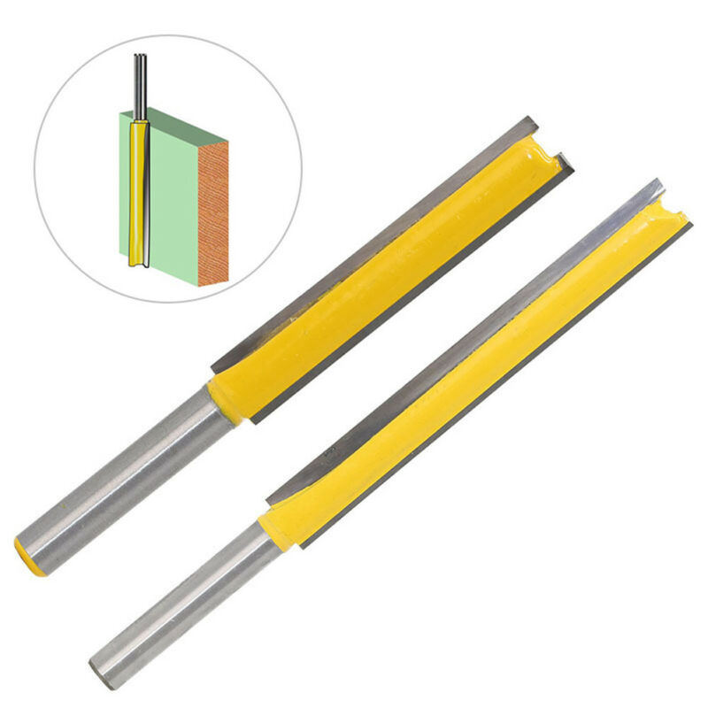 1/4*3/8 Shank Extra Long Flush Trim Straight Router Bit FIT Bearing Wood Cutting
