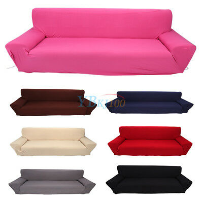 1/2/3/4Seater Stretch Fit Elastic Fabric Sofa Cover Couch Covers Spandex Protect 6