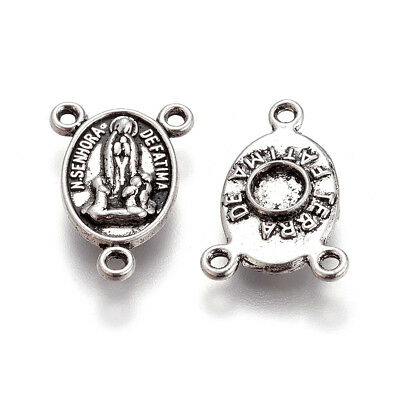 Free Ship 162 pieces tibetan silver rosary and Mary connector 19x10mm #036