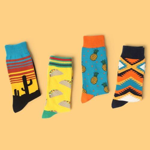Neu Cotton Happy Socks Warm Gradient Colorful Casual Dress-Socks Hot Sale Nett 2