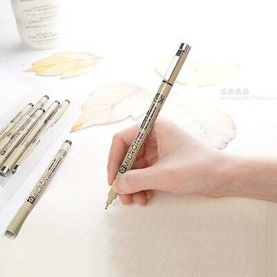 8X Micron Fine Line Pen 005 01 02 03 04 05 08 BRUSH Kunsthandwerk Kunstbedarf 3