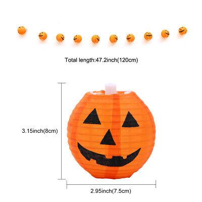 10 LED Pumpkin String Fairy Lights Lantern Party Home Props Halloween Decoration 7