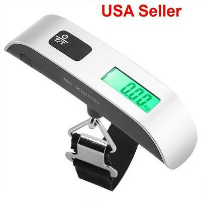50kg/10g Portable Travel LCD Digital Hanging Luggage Scale Electronic Weight US 4