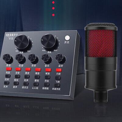 BM800 Condenser Microphone Audio Mic Stand Kit for Studio Recording Broadcasting 6