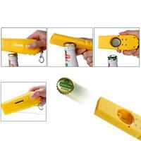 Creative Bottle Beer Opener Tool Bar Game Toy Flying Cap Launcher Key Ring Chain 2