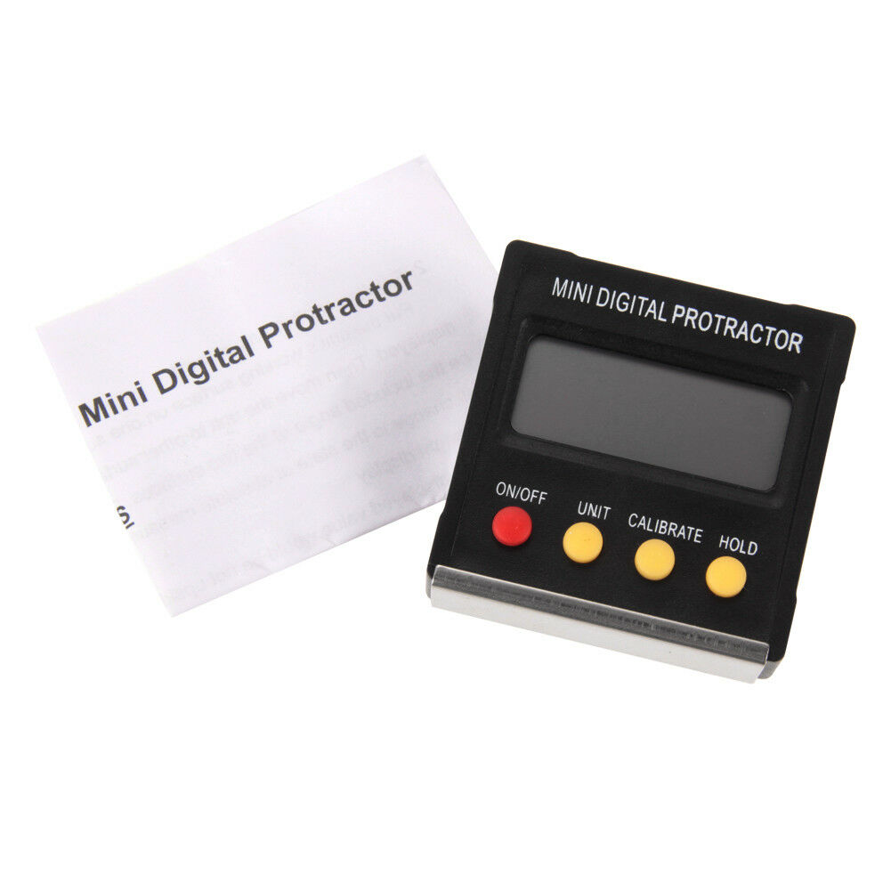 Mini Digital Protractor Inclinometer Angle Meter 360˚ Slope Angle Upright Magnet 6